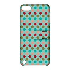 Large Colored Polka Dots Line Circle Apple Ipod Touch 5 Hardshell Case With Stand by Mariart