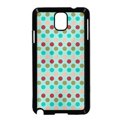 Large Colored Polka Dots Line Circle Samsung Galaxy Note 3 Neo Hardshell Case (black) by Mariart