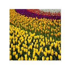 Colorful Tulips In Keukenhof Gardens Wallpaper Small Satin Scarf (square) by Simbadda