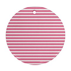 Horizontal Stripes Light Pink Ornament (round) by Mariart