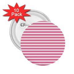 Horizontal Stripes Light Pink 2 25  Buttons (10 Pack)  by Mariart