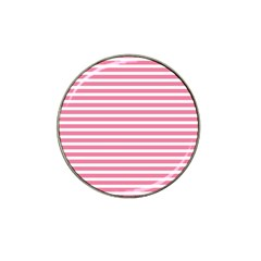 Horizontal Stripes Light Pink Hat Clip Ball Marker (4 Pack) by Mariart