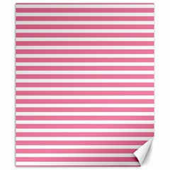 Horizontal Stripes Light Pink Canvas 20  X 24   by Mariart