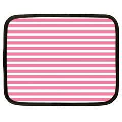 Horizontal Stripes Light Pink Netbook Case (large) by Mariart