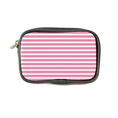 Horizontal Stripes Light Pink Coin Purse by Mariart