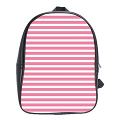 Horizontal Stripes Light Pink School Bags(large)