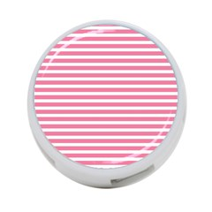 Horizontal Stripes Light Pink 4 Port Usb Hub (two Sides)  by Mariart
