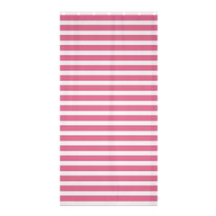 Horizontal Stripes Light Pink Shower Curtain 36  X 72  (stall)  by Mariart