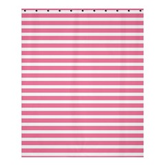Horizontal Stripes Light Pink Shower Curtain 60  X 72  (medium)  by Mariart