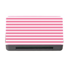 Horizontal Stripes Light Pink Memory Card Reader With Cf by Mariart