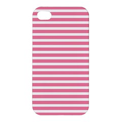 Horizontal Stripes Light Pink Apple Iphone 4/4s Hardshell Case by Mariart