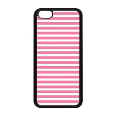 Horizontal Stripes Light Pink Apple Iphone 5c Seamless Case (black) by Mariart