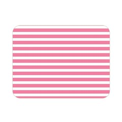 Horizontal Stripes Light Pink Double Sided Flano Blanket (mini)  by Mariart