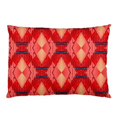 Orange Fractal Background Pillow Case (two Sides) by Simbadda