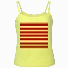Horizontal Stripes Red Yellow Spaghetti Tank by Mariart