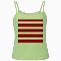 Horizontal Stripes Red Green Spaghetti Tank by Mariart