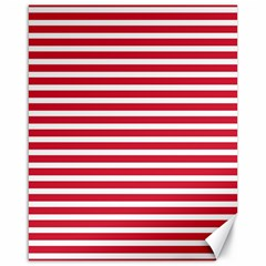 Horizontal Stripes Red Canvas 16  X 20   by Mariart