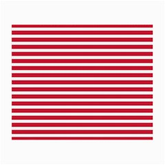 Horizontal Stripes Red Small Glasses Cloth (2 Side) by Mariart