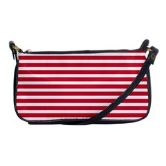 Horizontal Stripes Red Shoulder Clutch Bags by Mariart