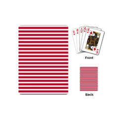 Horizontal Stripes Red Playing Cards (mini)  by Mariart