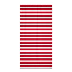 Horizontal Stripes Red Shower Curtain 36  X 72  (stall)  by Mariart