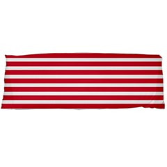 Horizontal Stripes Red Body Pillow Case Dakimakura (two Sides) by Mariart