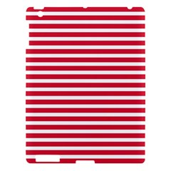 Horizontal Stripes Red Apple Ipad 3/4 Hardshell Case by Mariart
