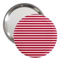 Horizontal Stripes Red 3  Handbag Mirrors by Mariart