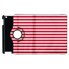 Horizontal Stripes Red Apple Ipad 3/4 Flip 360 Case by Mariart