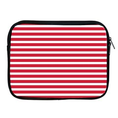Horizontal Stripes Red Apple Ipad 2/3/4 Zipper Cases by Mariart