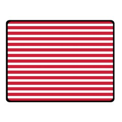 Horizontal Stripes Red Double Sided Fleece Blanket (small)  by Mariart