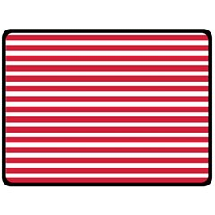 Horizontal Stripes Red Double Sided Fleece Blanket (large)  by Mariart