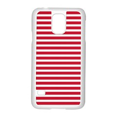 Horizontal Stripes Red Samsung Galaxy S5 Case (white) by Mariart