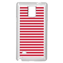 Horizontal Stripes Red Samsung Galaxy Note 4 Case (white) by Mariart