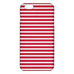 Horizontal Stripes Red Iphone 6 Plus/6s Plus Tpu Case by Mariart