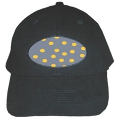 Limpet Polka Dot Yellow Grey Black Cap by Mariart