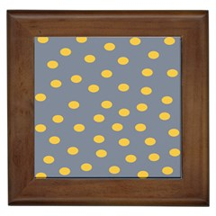 Limpet Polka Dot Yellow Grey Framed Tiles by Mariart