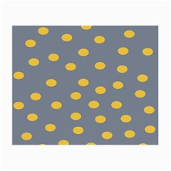 Limpet Polka Dot Yellow Grey Small Glasses Cloth (2 Side) by Mariart