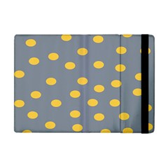 Limpet Polka Dot Yellow Grey Apple Ipad Mini Flip Case by Mariart