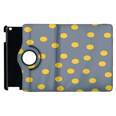 Limpet Polka Dot Yellow Grey Apple Ipad 3/4 Flip 360 Case by Mariart