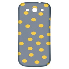 Limpet Polka Dot Yellow Grey Samsung Galaxy S3 S Iii Classic Hardshell Back Case by Mariart