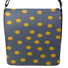 Limpet Polka Dot Yellow Grey Flap Messenger Bag (s) by Mariart