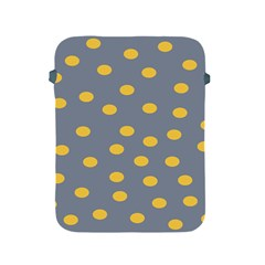 Limpet Polka Dot Yellow Grey Apple Ipad 2/3/4 Protective Soft Cases by Mariart