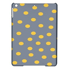 Limpet Polka Dot Yellow Grey Ipad Air Hardshell Cases by Mariart