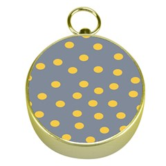 Limpet Polka Dot Yellow Grey Gold Compasses by Mariart