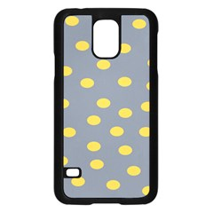 Limpet Polka Dot Yellow Grey Samsung Galaxy S5 Case (black) by Mariart