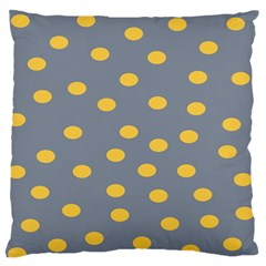 Limpet Polka Dot Yellow Grey Standard Flano Cushion Case (two Sides) by Mariart