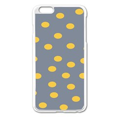 Limpet Polka Dot Yellow Grey Apple Iphone 6 Plus/6s Plus Enamel White Case by Mariart