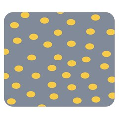 Limpet Polka Dot Yellow Grey Double Sided Flano Blanket (small)