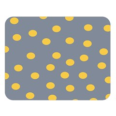 Limpet Polka Dot Yellow Grey Double Sided Flano Blanket (large)  by Mariart